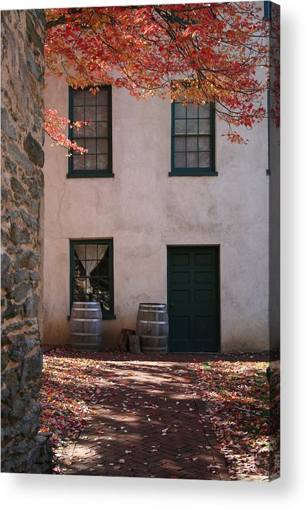Fall Acrylic Print featuring the photograph House Off Of Potomac St. by Rebecca Smith