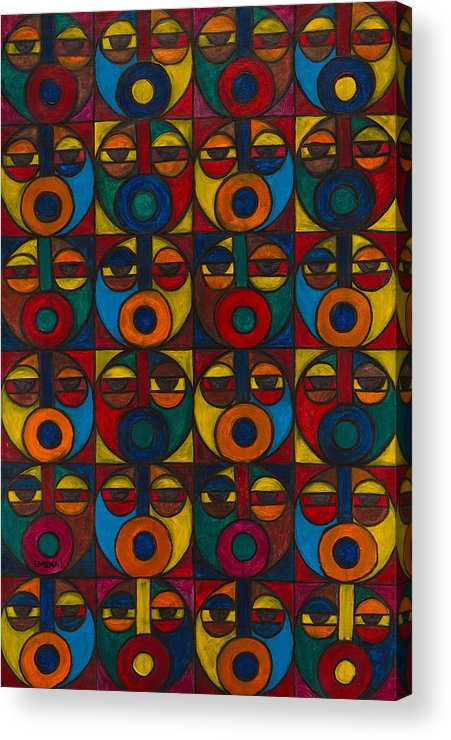 Acrylic Print featuring the painting Humanity by Emeka Okoro