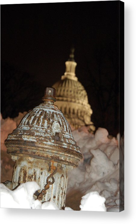 Washington Dc Acrylic Print featuring the photograph Hydrant Capitol Washington Dc by Thomas Michael Corcoran