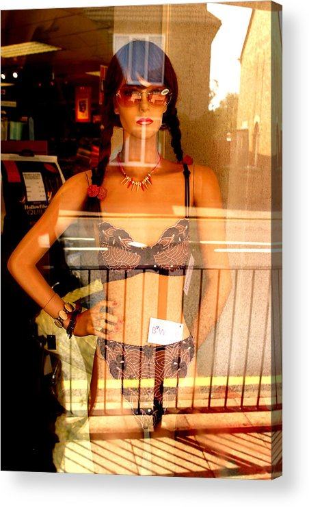Jez C Self Acrylic Print featuring the photograph I Am Pretty In A Non Pretty Place by Jez C Self