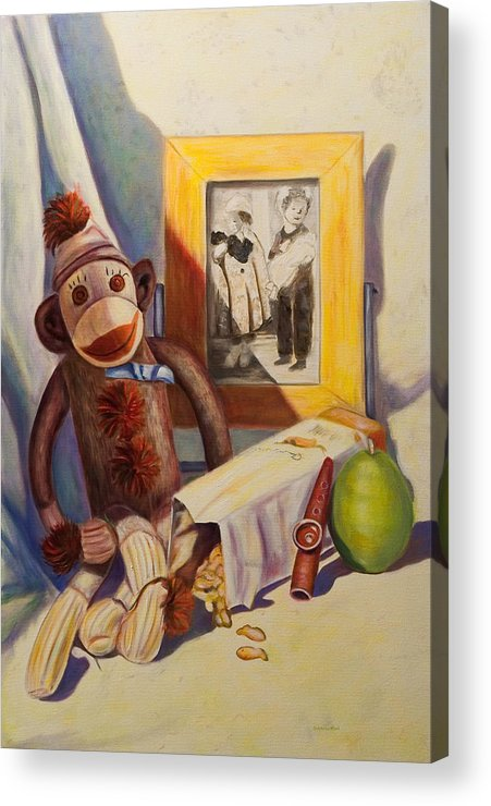 Children Acrylic Print featuring the painting I Will Remember You by Shannon Grissom