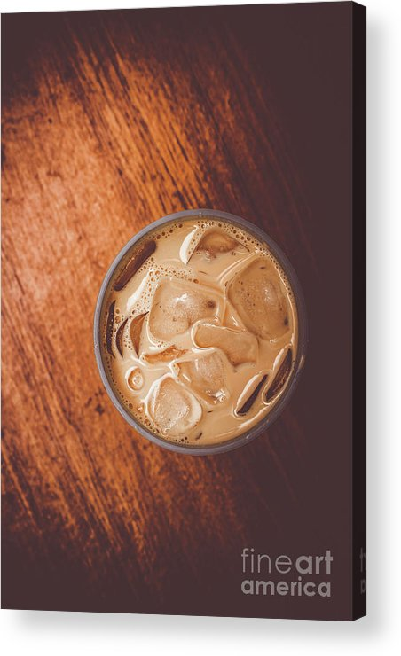 Drink Acrylic Print featuring the photograph Iced Coffee Beverage On Copy Space by Jorgo Photography - Wall Art Gallery