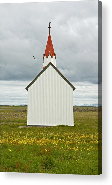 Iceland Acrylic Print featuring the photograph Icelandic Church by Elisa Locci