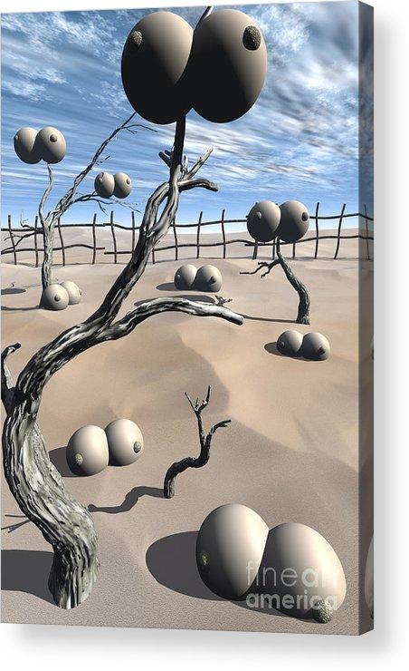 Humor Acrylic Print featuring the digital art Imm Plants by Richard Rizzo