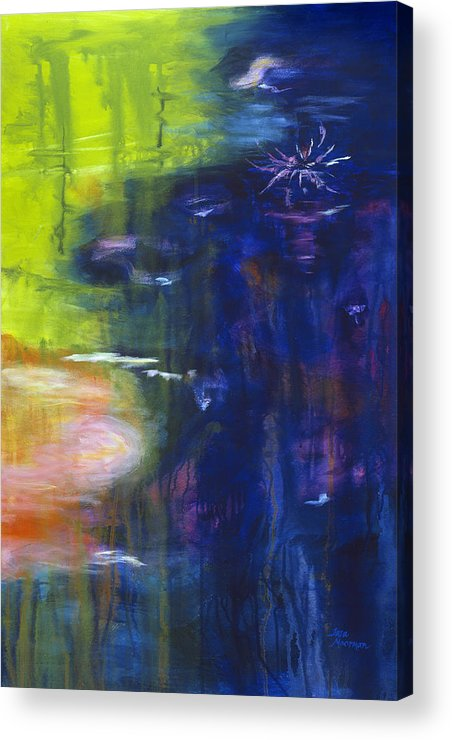 Abstract Acrylic Print featuring the painting In The Flow by Tara Moorman