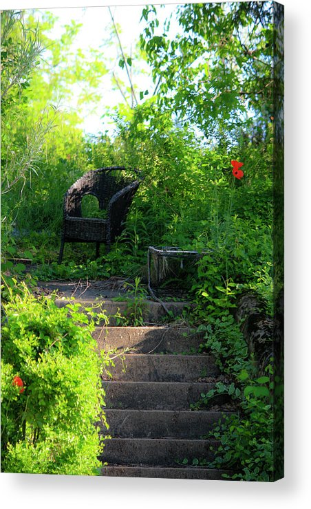 Garden Acrylic Print featuring the photograph In The Garden by Teresa Mucha