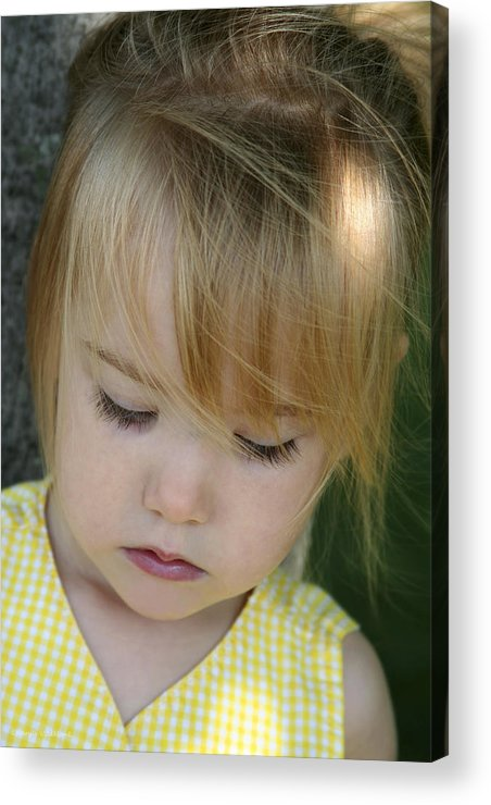 Angelic Acrylic Print featuring the photograph Innocence II by Margie Wildblood