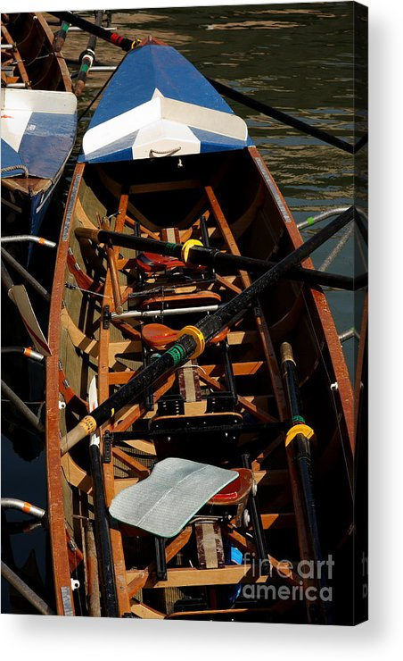 Boat Acrylic Print featuring the relief Inside Sail Boat by Michael Henderson