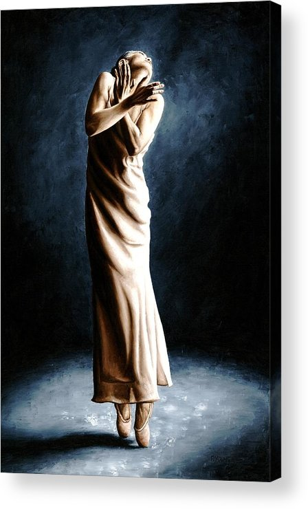 Dancer Acrylic Print featuring the painting Intense Ballerina by Richard Young