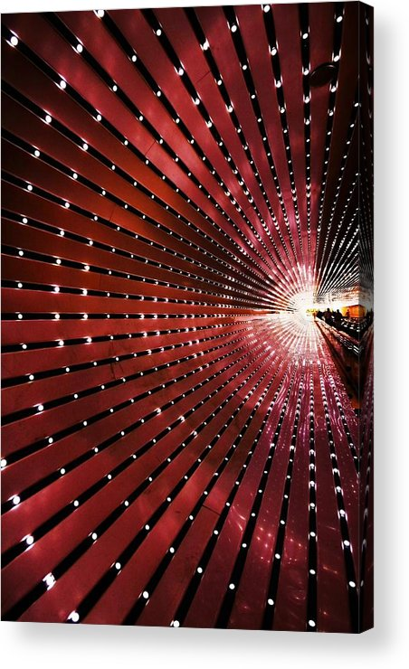 Tunnel Acrylic Print featuring the photograph Into The Light by Mitch Cat