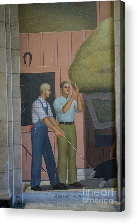 Grant Wood Acrylic Print featuring the photograph Iowa State Mural - 2 by David Bearden