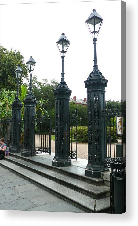 Jackson Square Acrylic Print featuring the photograph Jackson Square by Kathy Schumann