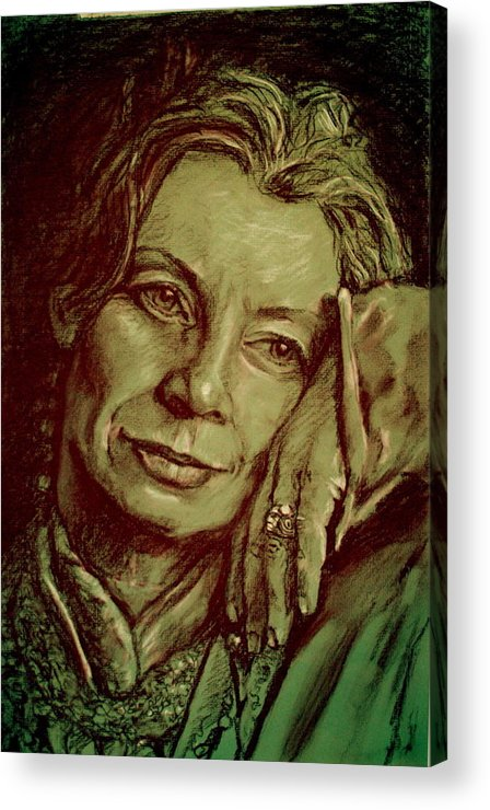 Portrait Artwork Acrylic Print featuring the painting Jacqueline by Dan Earle