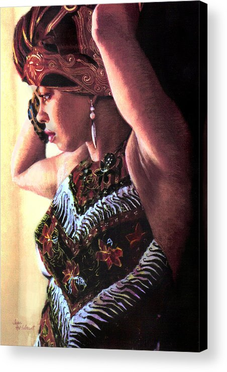 Jamaican Woman Acrylic Print featuring the painting Jamaican Woman by Jean Hildebrant