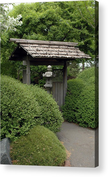 Japanese Garden Acrylic Print featuring the photograph Japanese Garden by Kathy Schumann