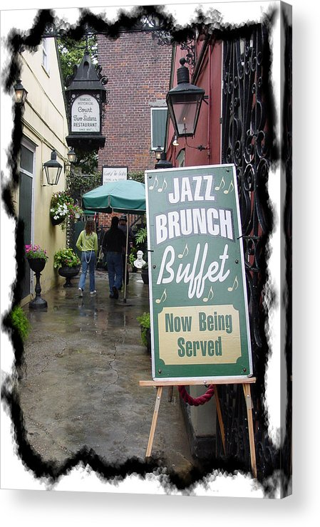 New Orleans Acrylic Print featuring the photograph Jazz Brunch by Linda Kish