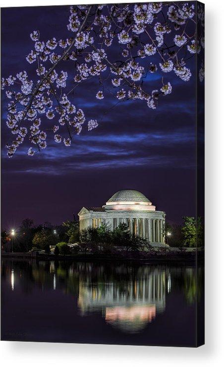 Cherry Blossoms Acrylic Print featuring the photograph Jefferson Cherry Sunrise by Erika Fawcett