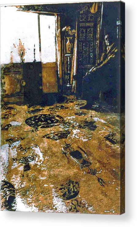 Oriental Acrylic Print featuring the mixed media Joes Rug by Randy Sprout