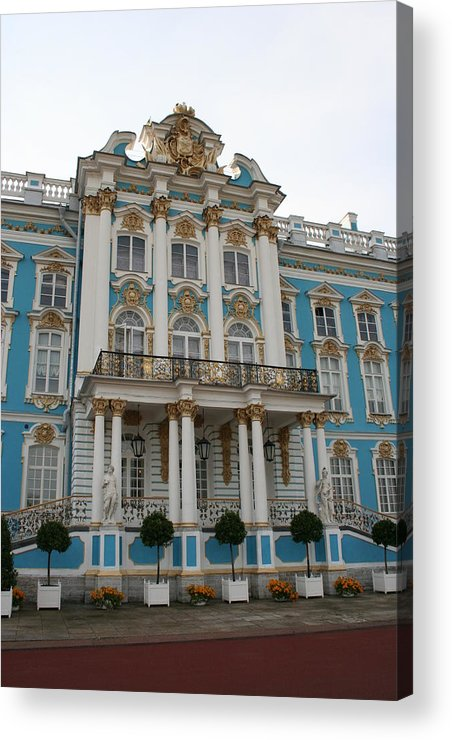 Palace Acrylic Print featuring the photograph Katharinen Palace I - Russia by Christiane Schulze Art And Photography