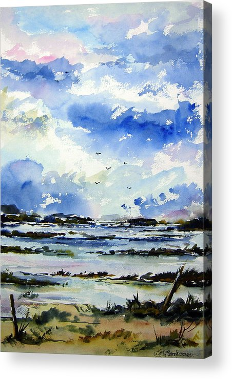 Landscape Acrylic Print featuring the painting Kerry Morning by Wilfred McOstrich