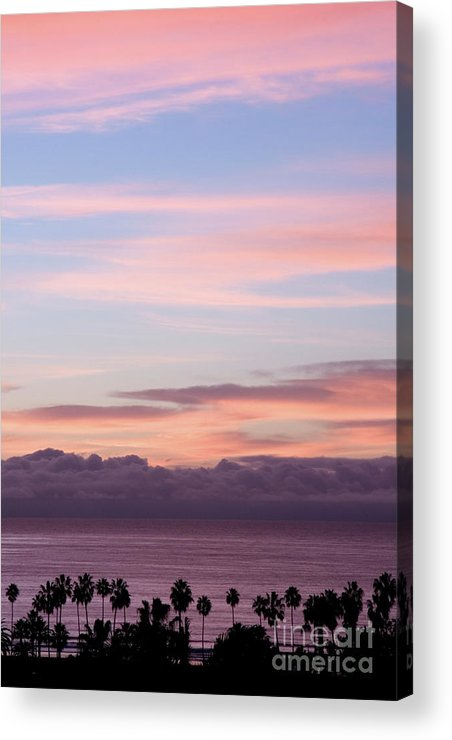 Nature Acrylic Print featuring the photograph La Jolla Shores In California by Julia Hiebaum