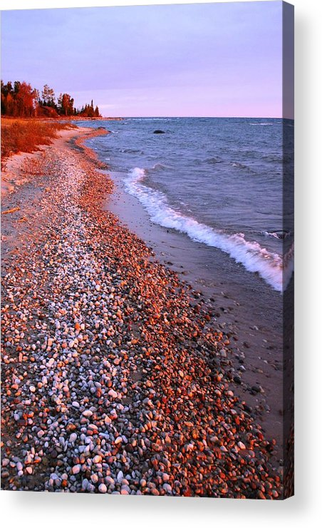 Waves Acrylic Print featuring the photograph Lake Huron Waves 7 by Joni Strickfaden
