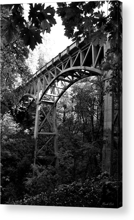 Latourell Falls Acrylic Print featuring the photograph Latourell Bridge by Noah Cole