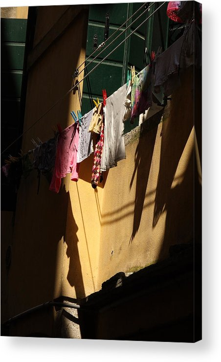 Acrylic Print featuring the photograph Laundry In The Sun In Venice by Michael Henderson