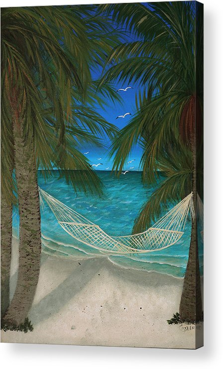 Hammock Acrylic Print featuring the painting Lazy Days Of Summer by Darlene Green