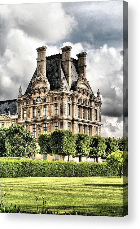 Paris Acrylic Print featuring the photograph Le Musee Du Louvre by Greg Sharpe