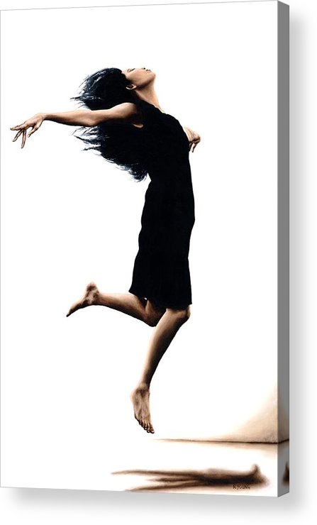 Ballet Acrylic Print featuring the painting Leap Into The Unknown by Richard Young