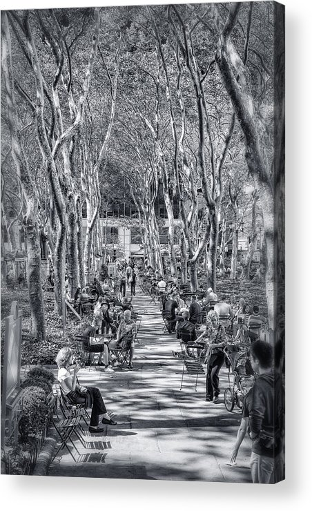 Bryant Park Acrylic Print featuring the photograph Leisure Time by Sabine Edrissi