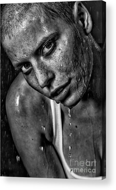 Woman Acrylic Print featuring the photograph Lena by Eugene Volkov