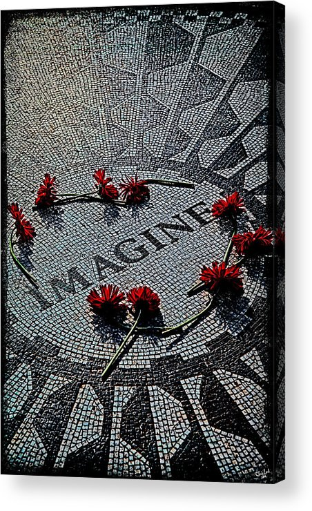 Imagine Acrylic Print featuring the photograph Lennon Memorial by Chris Lord