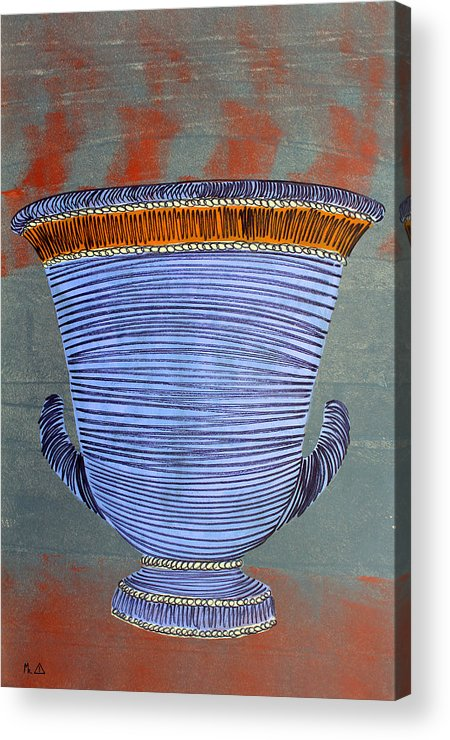 Pottery Acrylic Print featuring the painting Lib-513 by Artist Singh