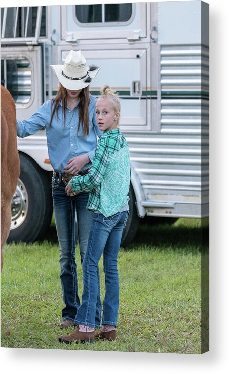 Rodeo Acrylic Print featuring the photograph Lil' Cowgirls by Glenn Matthews