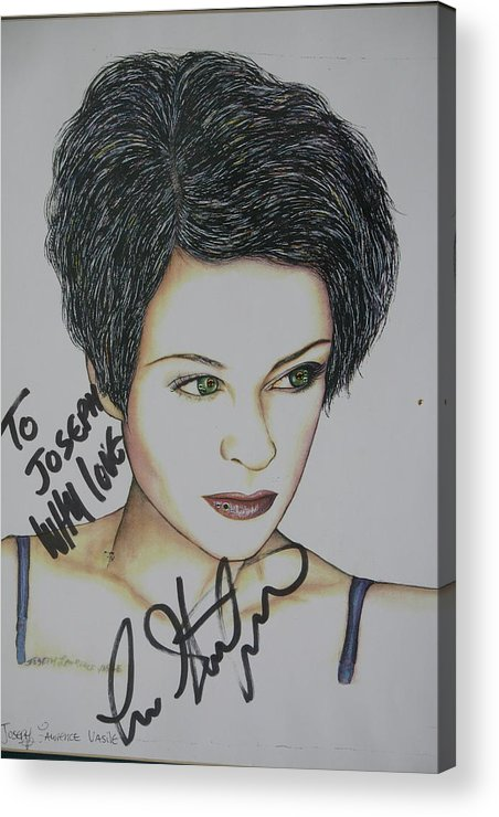 Lisa Stansfield Acrylic Print featuring the mixed media Lisa by Joseph Lawrence Vasile