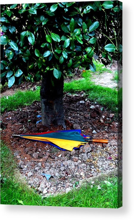 Photographer Acrylic Print featuring the photograph Lost Brolly by Jez C Self
