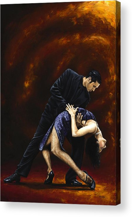 Tango Acrylic Print featuring the painting Lost In Tango by Richard Young