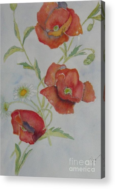Flower Acrylic Print featuring the painting Love by Djl Leclerc