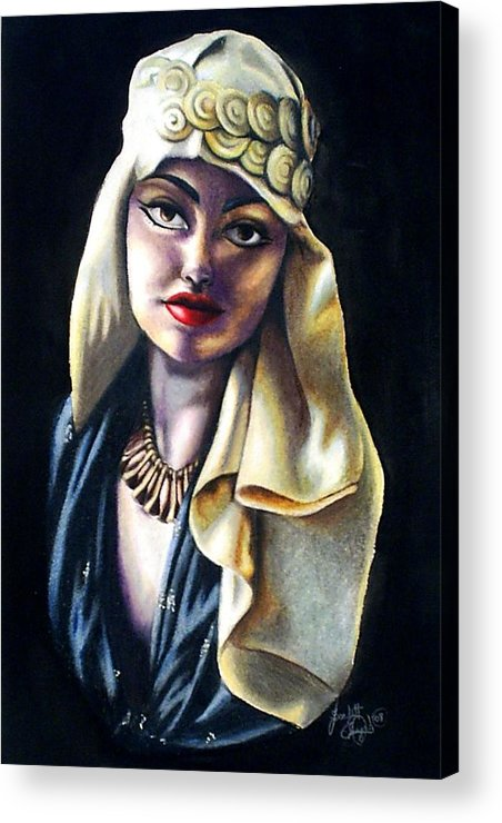 Portrait Acrylic Print featuring the drawing Loving Light by Scarlett Royal