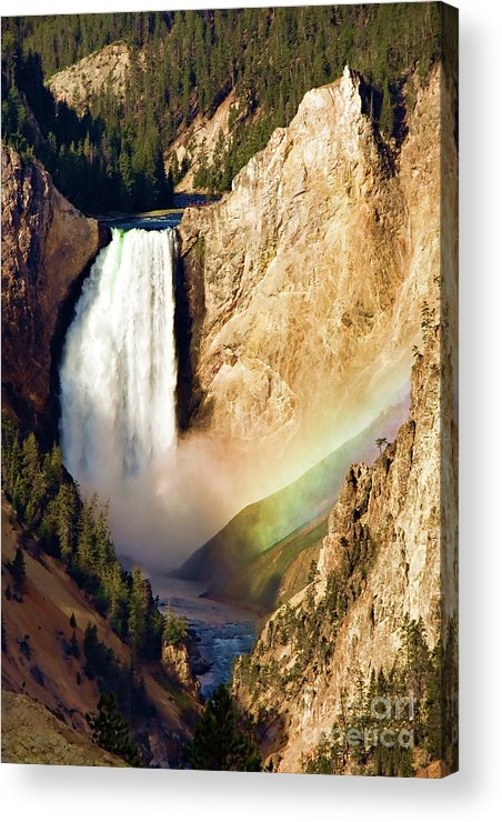 Canyon Acrylic Print featuring the photograph Lower Rainbow Of Colors by Lana Trussell