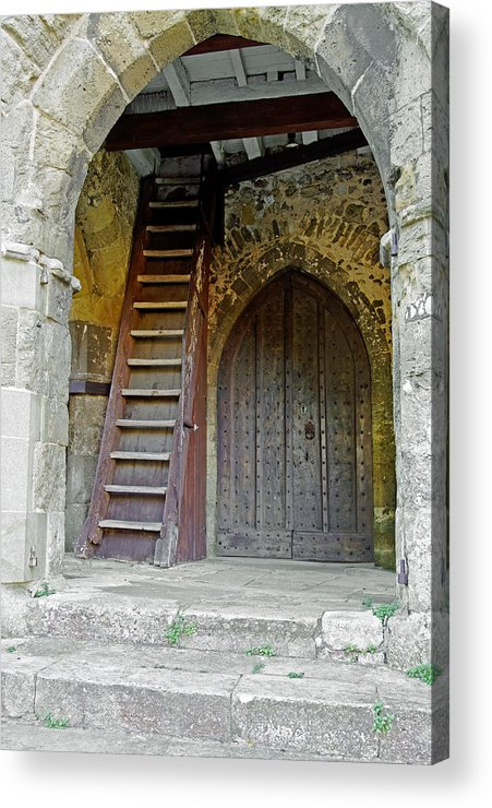 Isle Of Wight Acrylic Print featuring the photograph Main Entrance To St Mary's Church At Brading by Rod Johnson