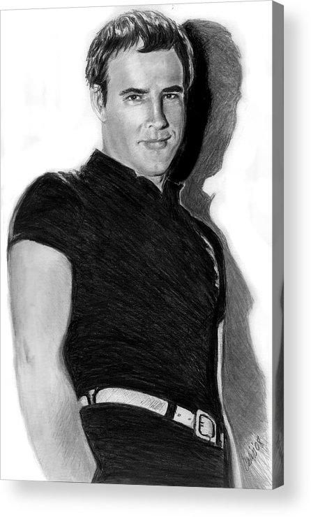 Hollywood Acrylic Print featuring the print Marlon by Carliss Mora