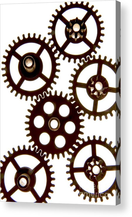 Backlight Acrylic Print featuring the photograph Mechanism by Bernard Jaubert