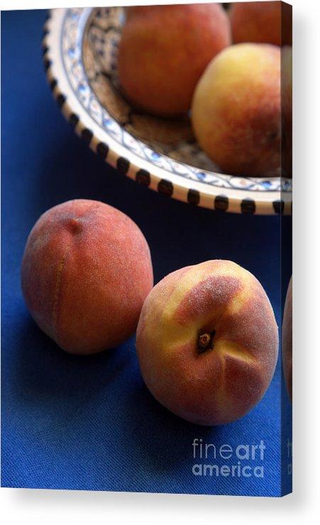 Crete Acrylic Print featuring the photograph Mediterrannean Peaches by Steve Outram