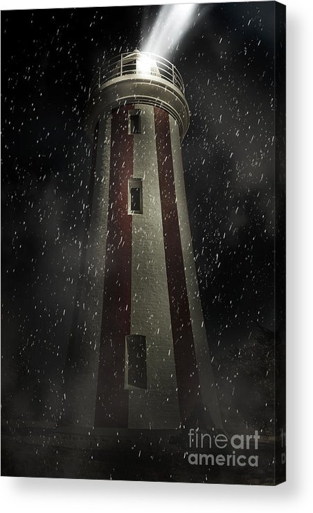 Lighthouse Acrylic Print featuring the digital art Mersey Bluff Lighthouse In Devonport. Fine Art by Jorgo Photography - Wall Art Gallery
