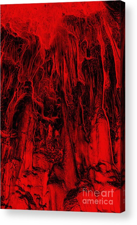 Metamorphism Acrylic Print featuring the digital art Metamorphism - Bizarre Shapes by Michal Boubin