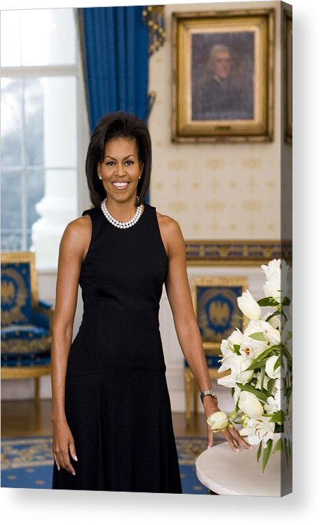 History Acrylic Print featuring the photograph Michelle Obama 1964-, In Her Official by Everett
