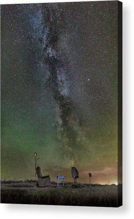 Iceland. Northern Lights Acrylic Print featuring the photograph Milky Way by Bragi Kort